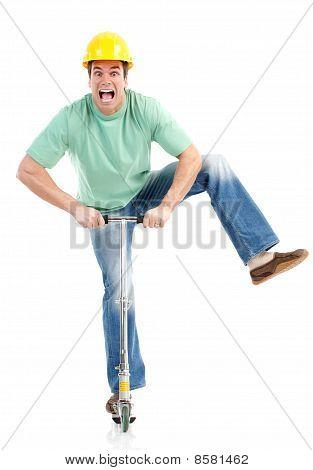 Homem de scooter