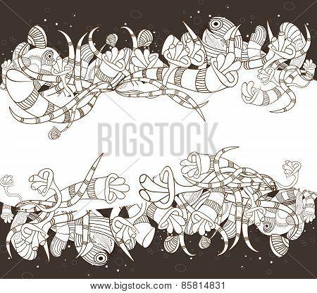 doodle florals background