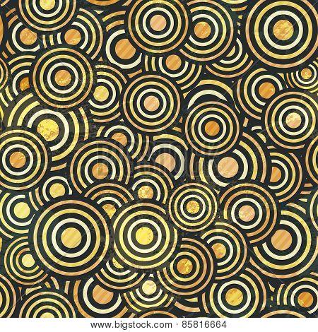 Grunge Gold Circle Seamless