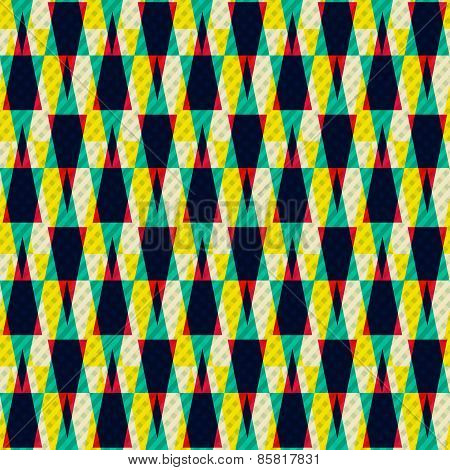 Illusion Seamless Pattern With Grunge Effect
