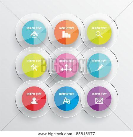 Modern Infographic Or Webdesign Symbols, Mobile Shopping Communication