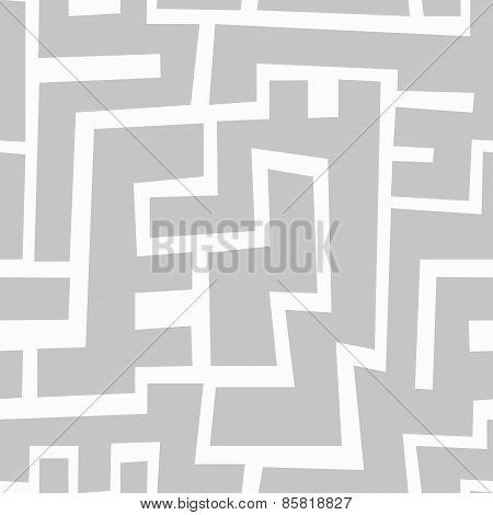 Monochrome Aztec Seamless Pattern