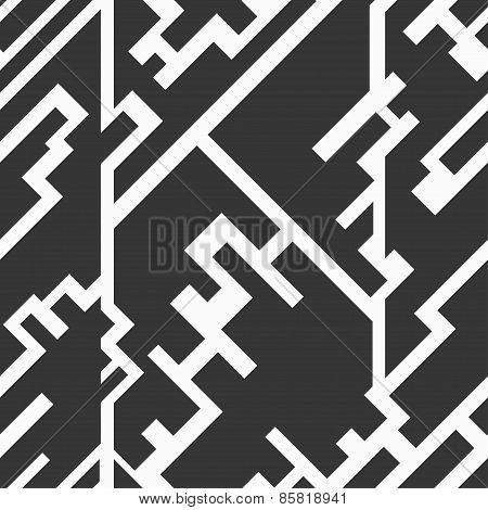 Monochrome Circuit Seamless Texture