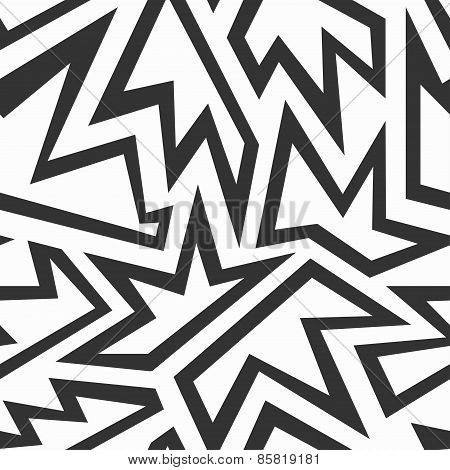 Monochrome Foliage Seamless Pattern