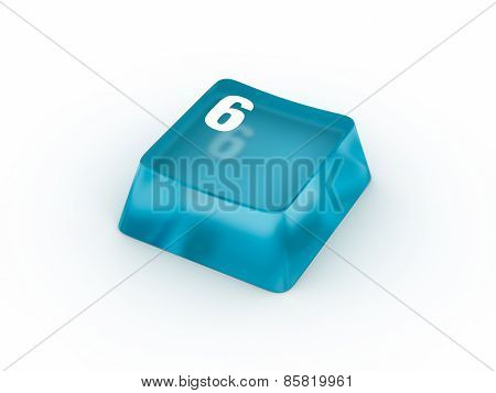 Keyboard button with number six