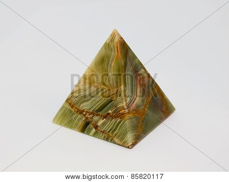 Pyramid onyx on a white background