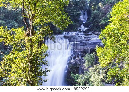 Sirithan Waterfall In Doi Inthanon, Chiang Mai, Thailand
