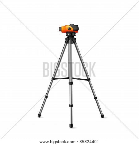 level for geodetic works on a white background
