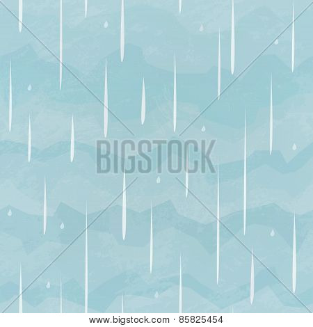 Rain Seamless Pattern