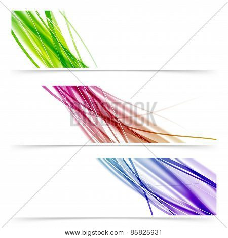 Colorful Swoosh Speed Wave Line Banner Collection
