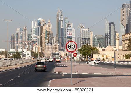 Street In Dubai Downtown