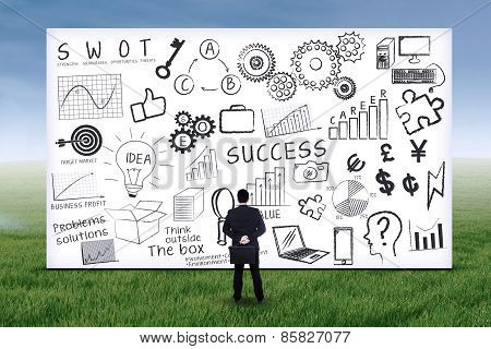 Businessman With Business Strategy 1