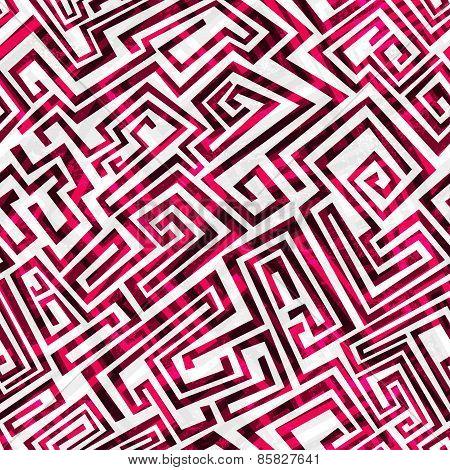 Red Maze Seamless Pattern