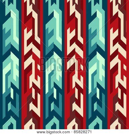 Red Totem Seamless Pattern