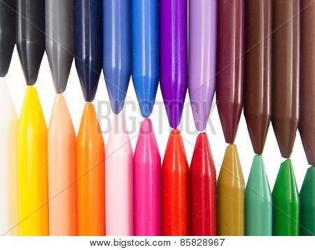 full color crayon left right diagonal