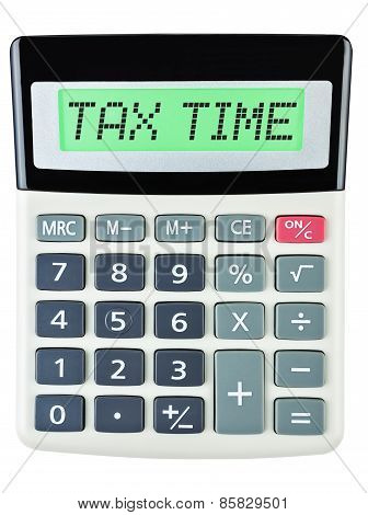 Calculator With Tax Time