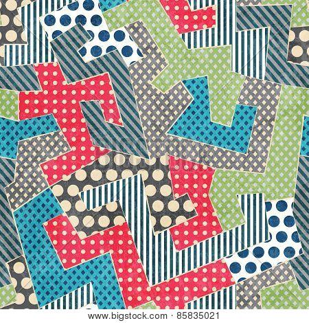 Colorful Retro Textile Seamless Pattern