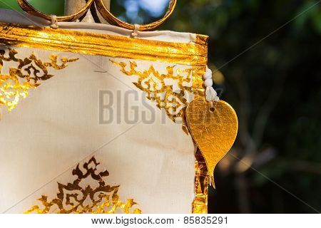 Tracery Art On Traditional Northern Decorative Paper Flag
