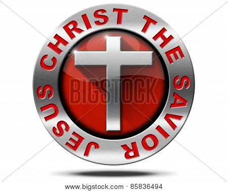 Jesus Christ The Savior - Metal Symbol