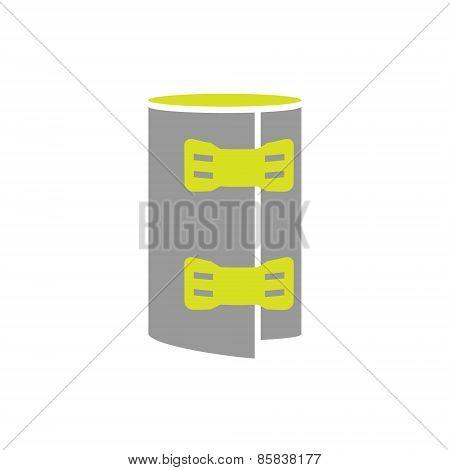 Flat Icon of Elastic Bandage Roll Isolated on White Background