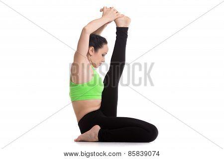 Krounchasana Yoga Pose