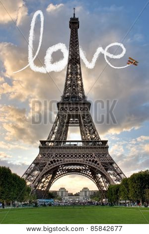 Love In Paris Eiffel Tower
