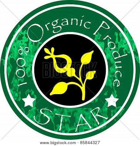 100% Organic Rubber Stamp Badge