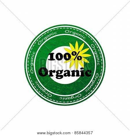 100% Organic Rubber Text Stamp