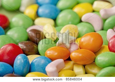 background of colorful candy
