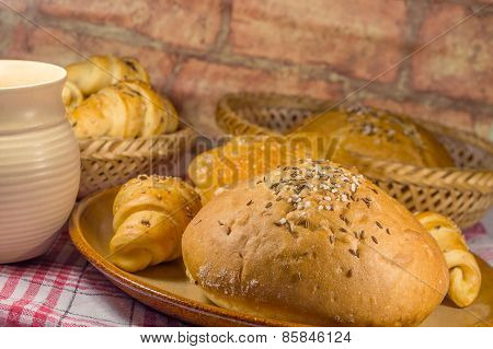 Bun and various pastry