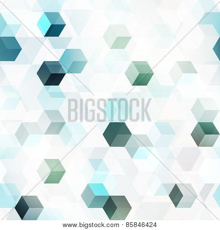 Technology Cube Seamless Pattern