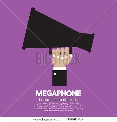 Megaphone In Hand.