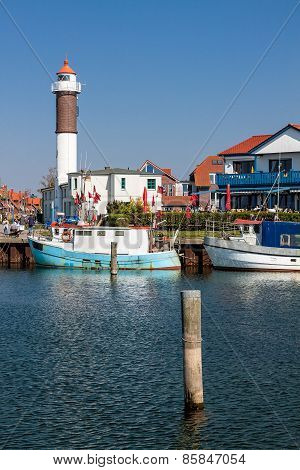 The Port Of Timmendorf On The Island Poel (germany)