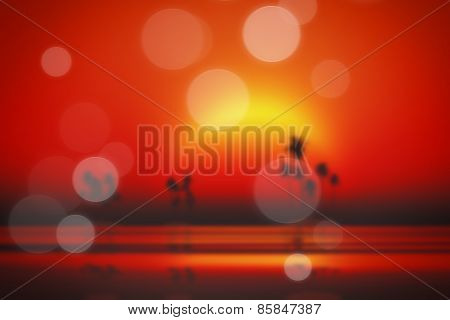Red Sunset Blurred