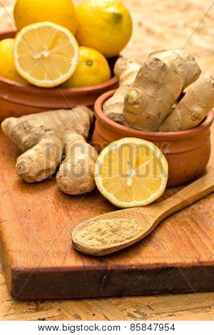 Ginger is a healthy and medicinal spice - herb