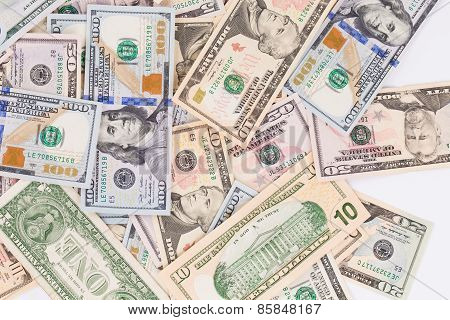different dollar bills