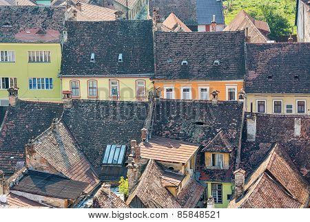 Typical architecture in Sighisoara, Romania.
