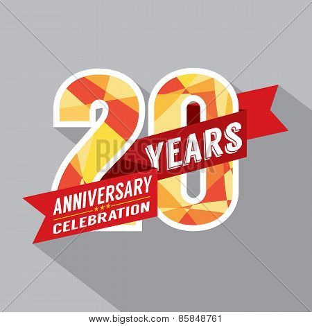 20Th Years Anniversary Celebration Design.