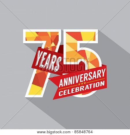 75Th Years Anniversary Celebration Design.
