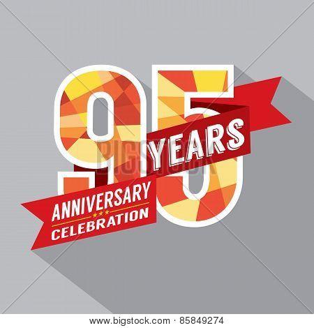 95Th Years Anniversary Celebration Design.