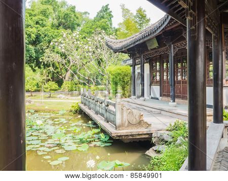 Chinese Architecture Style In The Park