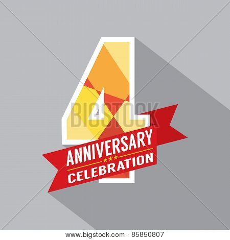 4Th Years Anniversary Celebration Design.