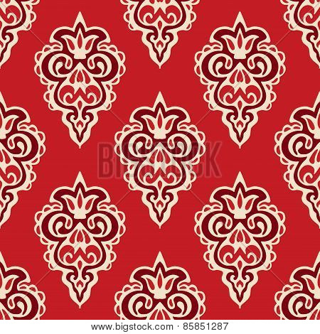Damask seamless vector pattern florish