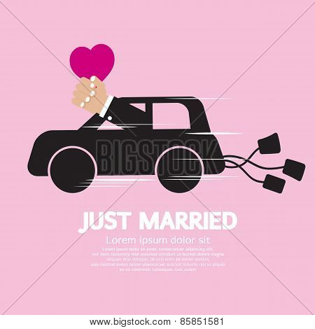 Just Married Concept.