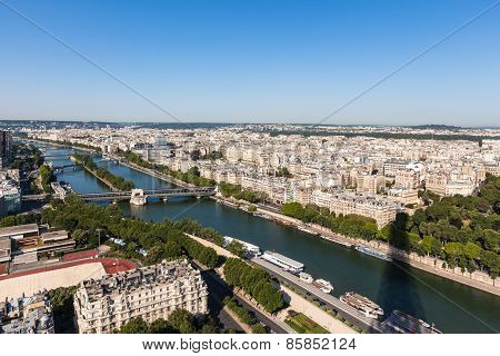 Aerial View Of Paris City