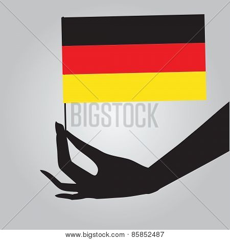 Hand With Germany Flag