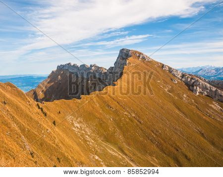 Mountain Range Near Pilatus