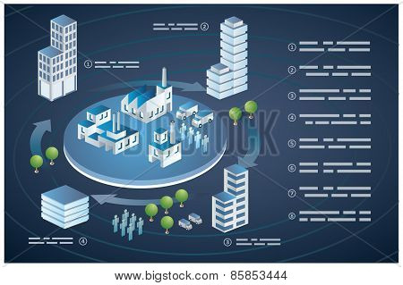 Isometric Buildings City