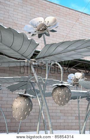 Helsinki. Finland. Were the Strawberries Grow Sculpture