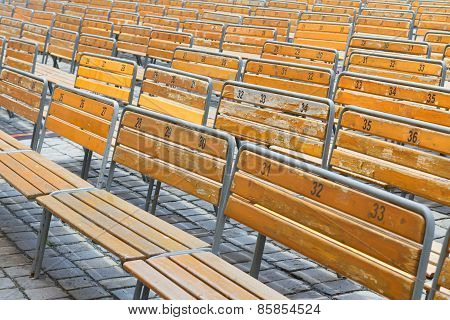 Open Air Auditorium Benches